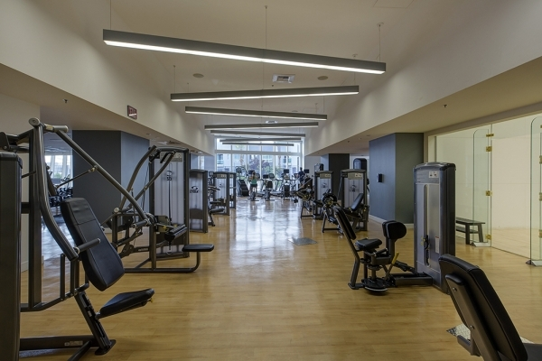 The gym at Panorama Towers.