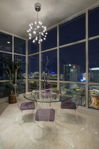 The penthouse at  Panorama Towers on Dean Martin Drive has a view from every room.   COURTESY