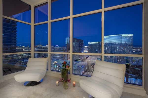 Panorama Towers I penthouse is unit 3303. It has views the Strip and City Center. It's priced at $1,999,999, which works out about $590 per square foot.   COURTESY