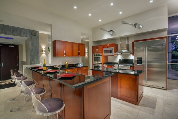 Panorama Towers penthouse kitchen.   COURTESY