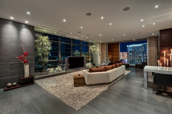 Unit 2400 was built in 2006 as a stopping point for City Center President and CEO Bobby Baldwin, who spared no expense in creating a luxurious urban retreat that is stylish and comfortable.   COURTESY