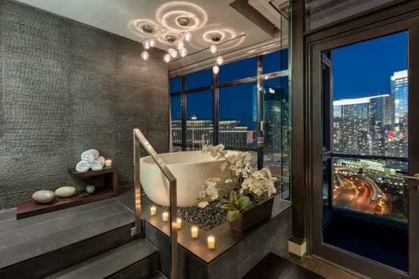Panorama Towers's unit 2400 was custom-built for City Center President Bobby Baldwin, who spared no expense in creating a luxurious urban retreat that is stylish and comfortable. Three steps ...