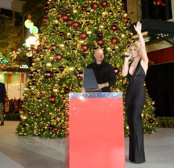 LAS VEGAS, NV - NOVEMBER 21:  Planet Hollywood Resort & Casino headliner Britney Spears hosts tree lighting ceremony at The LINQ Promenade on November 21, 2015 in Las Vegas, Nevada.  (Photo by ...