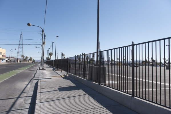 The North side of the Llama Lot located at 152 N. 9th St. in Las Vegas is seen Thursday, Dec. 31, 2015. Nearby residents, churches and businesses complain about loud noises when the lot is used by ...