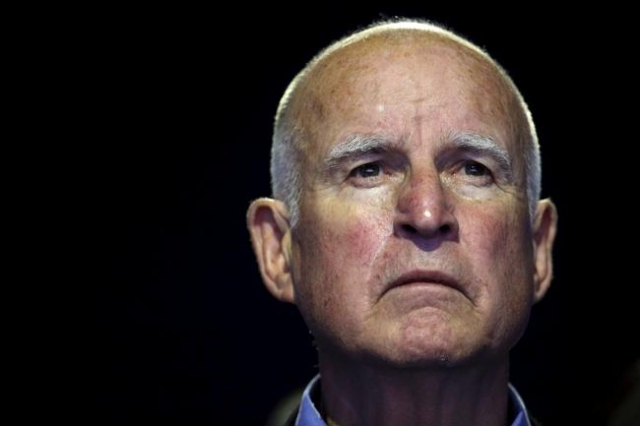 """California Governor Edmund """"Jerry"""" Brown attends a meeting during the World Climate Change Conference 2015 (COP21) at Le Bourget, near Paris Dec. 5, 2015. (REUTERS/Stephane Mahe)"""
