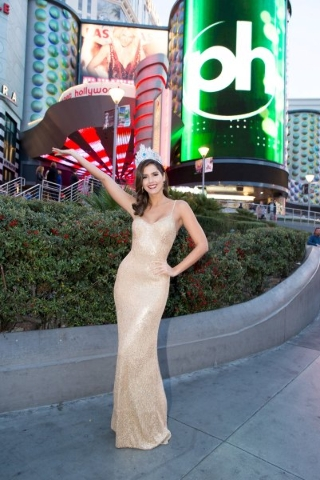 Paulina Vega, Miss Universe 2014 poses for a photo during the Welcome Event at Planet Hollywood Resort & Casino, in Las Vegas, Nevada, December 7, 2015. The 2015 Miss Universe contestants are  ...