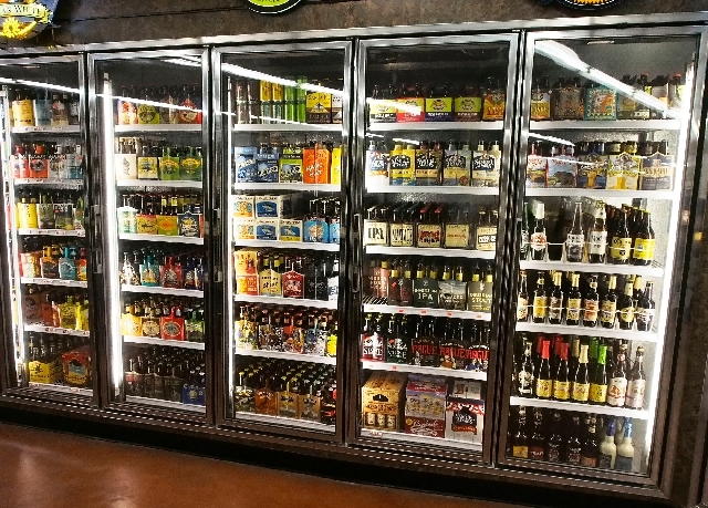 The craft beer selections are seen at the new White Cross Market on Las Vegas Boulevard. (Las Vegas Review-Journal file)