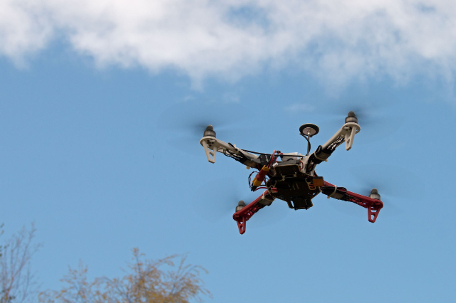 Flying drone (Thinkstock)