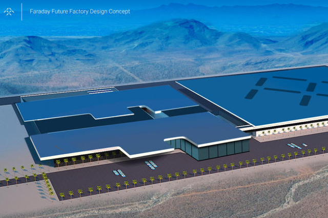 Faraday factory concept art. (Faraday Future)