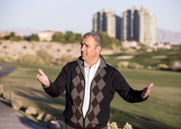Developer Yohan Lowie, partner in EHB Companies, discusses the future of  Badlands Golf Course, 9119 Alta Drive,  on Wednesday, Nov. 12, 2015. EHB recently bought the golf course and is planning o ...