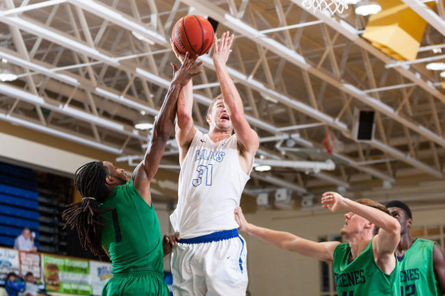 Rollins sophomore forward Sam Phillpot goes up for a shot. (Courtesy/Jim Hogue Photography)