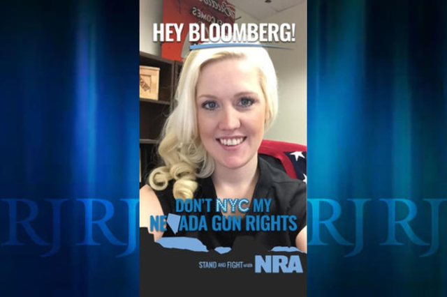 This is how a supporter's Snapchat picture will look after the National Rifle Association filter is applied.