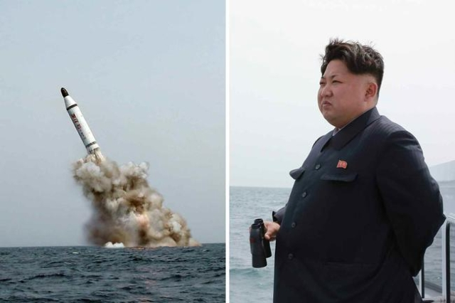 North Korean leader Kim Jong Un oversaw the successful underwater test fire of a ballistic missile, North Korean state news agency, KCNA, said Saturday, May 9, 2015. The missile was launched from  ...