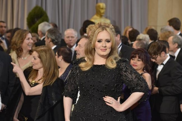 Adele at the 2013 Academy Awards in Los Angeles. (CNN/Edward M. Pio Roda)