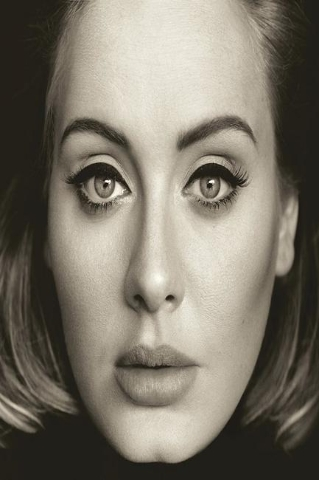 "The singer's eagerly awaited third album, ""25,"" released today, and fans are feeling it. (CNN/Adele.com)"
