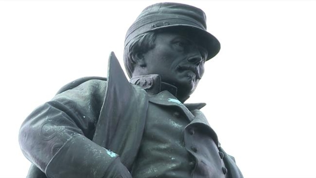 The P.G.T. Beauregard monument in New Orleans. The city council will vote on whether or not to remove the monuments. (WGNO/CNN)