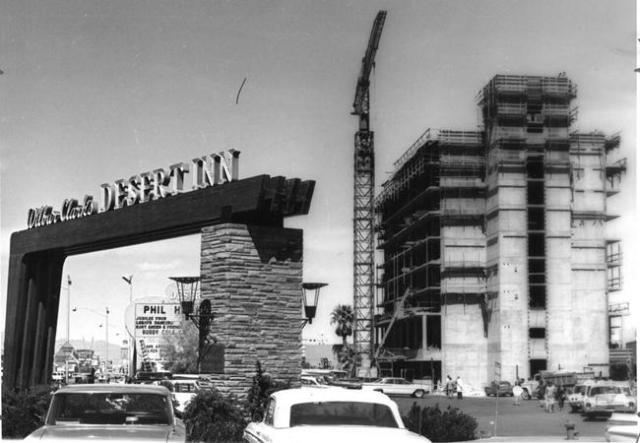 Construction is seen at the Desert Inn in this 1963 photo. (Las Vegas News Bureau)