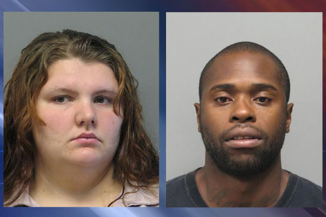 Veronica Houck, 23, left, and Jamar Webb, 33, right were arrested in Minden, La, on warrants issued in the killing of Young Suk Sanchez, 71, according to Las Vegas Police. (Las Vegas Metropolitan  ...
