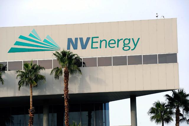NV Energy in Las Vegas. (David Becker/Las Vegas Review-Journal)