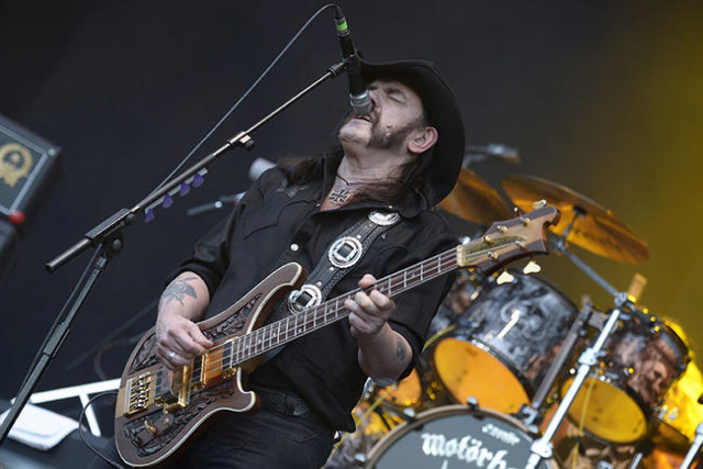 "Ian Fraser ""Lemmy"" Kilmister, lead singer of British rock band Motorhead, performs during the 24th Wacken Open Air Festival in  Wacken, August 2, 2013. REUTERS/Fabian Bimmer"