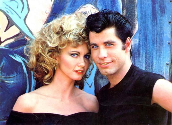 "Olivia Newton-John and John Travolta in the 1978 film ""Grease."" (Courtesy)"