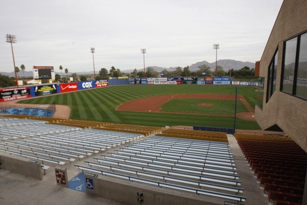 Cashman Field in las Vegas is seen on Wednesday, Dec. 24, 2014. The five-member development team at Cashman Center complex is one of 10 finalists for $1 million in city-administered redevelopment  ...