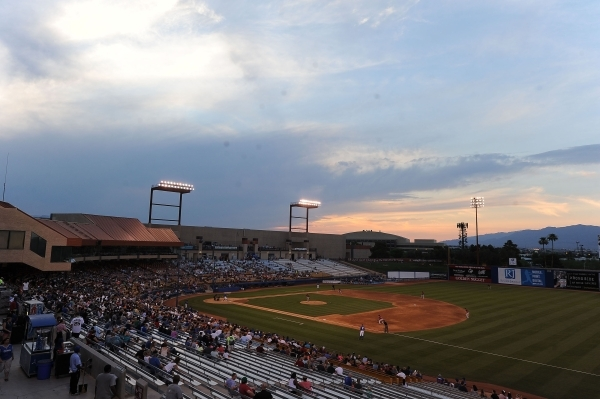 Cashman Field is seen in the third inning of a Triple-A minor league baseball game between the Las Vegas 51s and the Sacramento River Ctas Friday June 26, 2015. Las Vegas won 6-3. (Josh Holmberg/L ...
