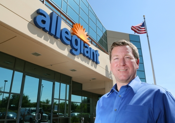"Steven Harfst, chief operating officer of Allegiant Travel Company, poses at Allegiant's headquarters Friday, Aug. 21, 2015, in Las Vegas. ""The goal [at Allegiant] is operational excell ..."