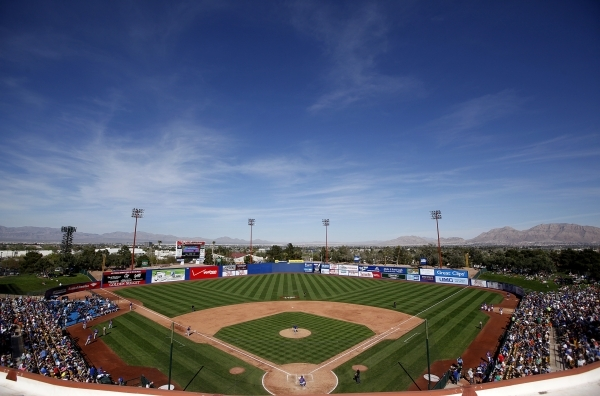 The view of Cashman Field during the Mets' game against the Cubs on March 16, 2014, during Big League Weekend. Justin Yurkanin/Las Vegas Review-Journal