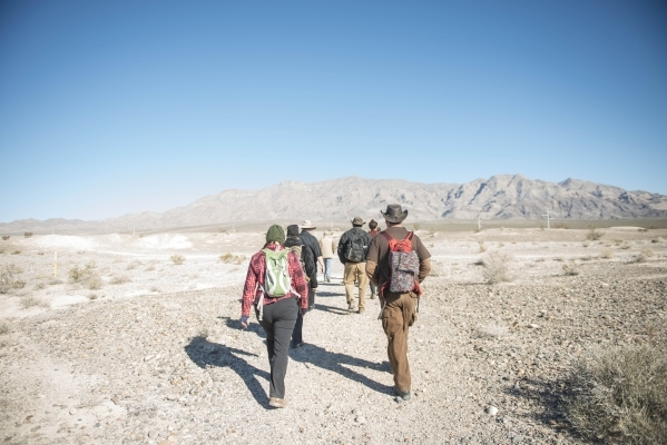 Hikers make their way through Tule Springs Fossil Beds National Monument in Las Vegas on Wednesday, Nov. 11, 2015. Tule Springs is one of the nation´s newest National Park Service sites. It is  ...