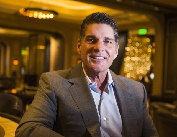 Cosmopolitan of Las Vegas president and CEO Bill McBeath sits for a photo in  The Talon Club on  Thursday, Dec. 10, 2015. (Jeff Scheid/Las Vegas Review-Journal Follow him @jlscheid)