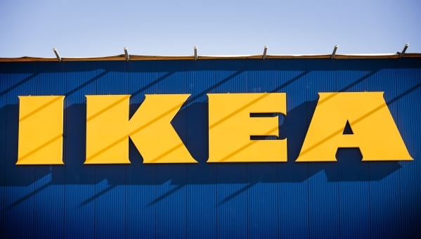 The Ikea sign at 215 Beltway at Durango Drive is seen on Thursday, Dec. 17,2015.  The 351,000 square foot home furnishing store is scheduled to open next summer. Jeff Scheid/Las Vegas Review-Journ ...