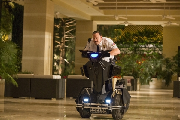 "Paul Blart (Kevin James) in Columbia Pictures' ""Paul Blart: Mall Cop 2."""