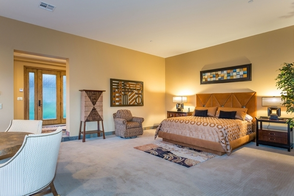 The master bed room in the casita. COURTESY