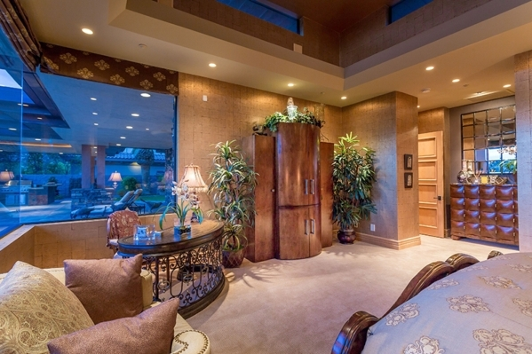 The sitting area of the master bedroom in the main home. COURTESY