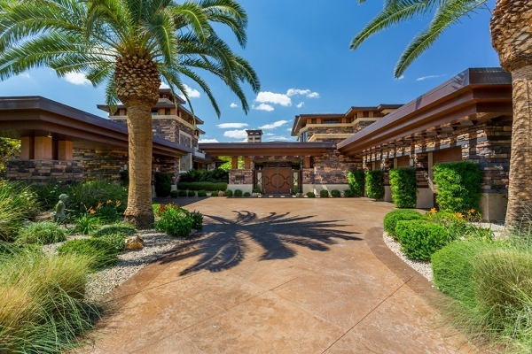 The Seven Hills  home looks over the green fairways of Rio Secco Golf Club. COURTESY