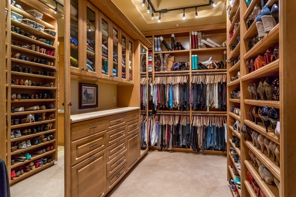 Her closet off the master bedroom. COURTESY