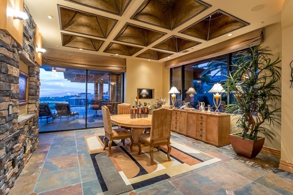 The dining room opens to the patio. COURTESY