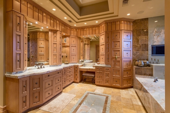 Her master bath is off one of the master suites. COURTESY