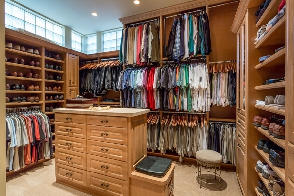 His closet. COURTESY