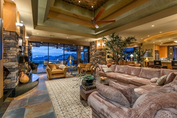 The home's living room. COURTESY