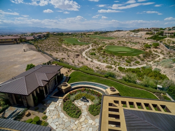 A view of the golf course from the balcony. COURTESY