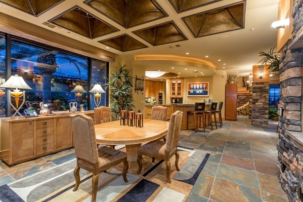 The home's dining room is off an impressive, gourmet-level kitchen. COURTESY