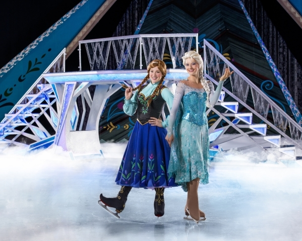 "Skaters from ""Disney On Ice: Frozen"" pose in this undated publicity shot for the show. The show is scheduled to visit the Thomas & Mack Center. The showþÄôs company manager  ..."