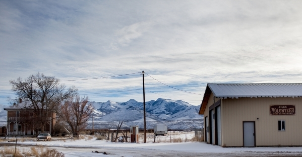 "Jiggs Nev., about a half hour south of Elko, is shown covered in snow Saturday, Dec. 19, 2015. Jiggs is named after a portly top hat-wearing cartoon character in the popular comic strip ""Brin ..."