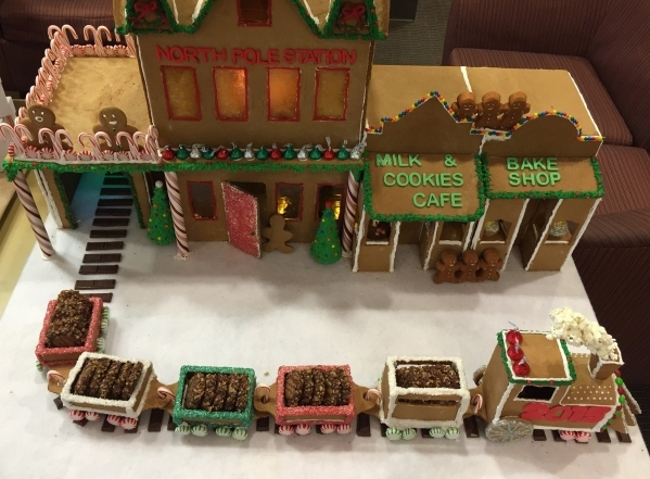 The gingerbread winner is shown on display Dec. 8 at Le Cordon Bleu College of Culinary Arts during its One Bite contest. Special to View