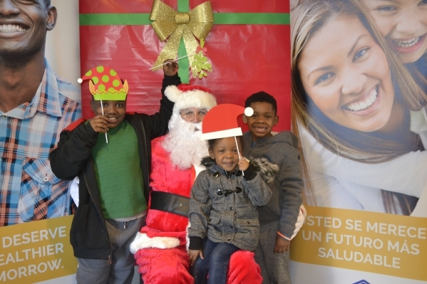 On Dec. 11, Health Plan of Nevada held an event with pictures with Santa and hot cocoa and cookies to allow attendees to ask health questions and learn about healthy lifestyle choices. Special to View
