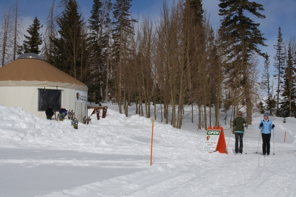 Traveling by cross country skis or snowshoes is the best way to visit Cedar Breaks National Monument in winter. The yurt serves as the park's winter ranger station. Deborah Wall/Special to View