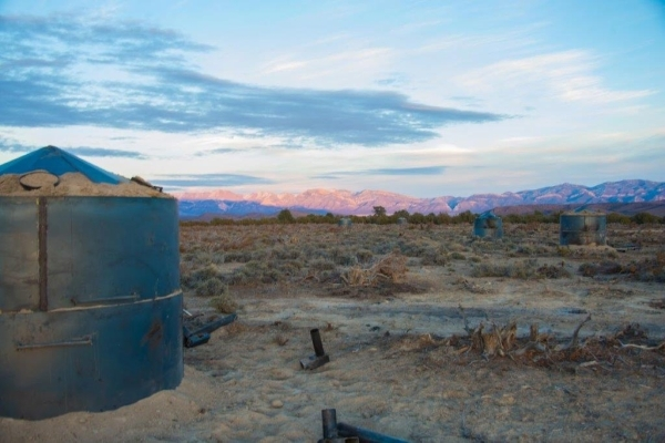 A kiln used to make make charcoal from pinion-juniper trees is shown at sunset near Ely on Dec. 9, 2015. Courtesy, Nevada Division of Forestry