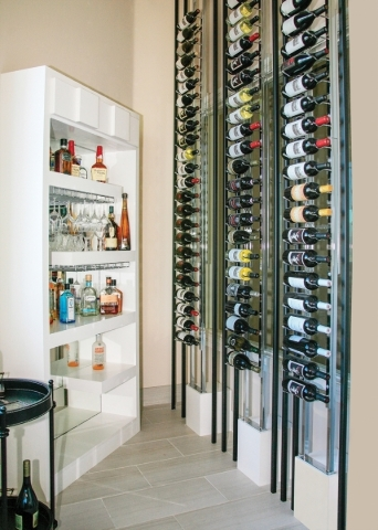 There is a wine storage wall that can house more than 100 bottles. ELKE COTE/REAL ESTATE MILLIONS